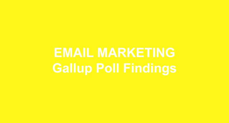 EMAIL MARKETING Gallup Poll Findings
